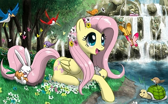 miniatura puzzle My little pony online Fluttershy nr 9